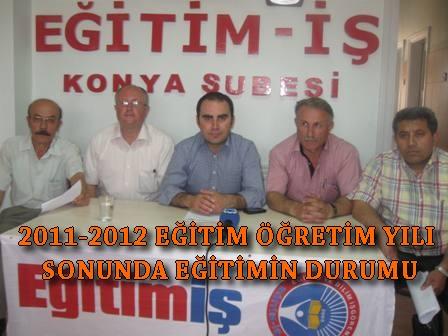 2011-2012 EĞİTİM ÖĞRETİM YILI SONUNDA EĞİTİMİN DURUMU
