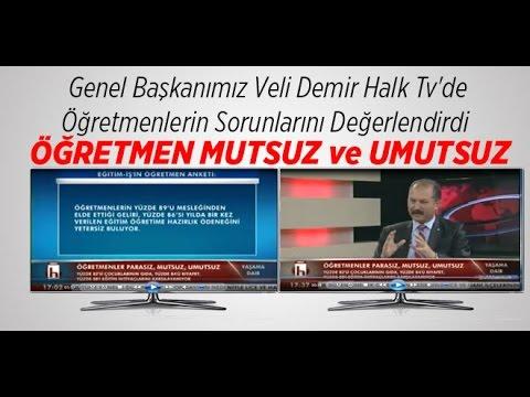 Genel Başkanımız Veli Demir Halk Tv'de Öğretmenlerin Sorunlarını Değerlendirdi