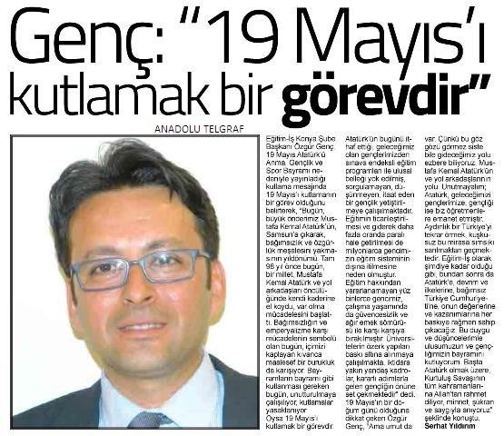 Basında 19 Mayıs Atatürk'ü Anma Gençlik ve Spor Bayramı