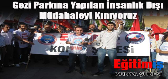 Gezi Parkına Yapılan İnsanlık Dışı Müdahaleyi Kınıyoruz