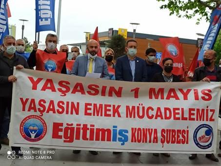 ELDEN ELE DİLDEN DİLE YAŞASIN 1 MAYIS KAHROLSUN 1 MAYIS'I YASAKLAYANLARA!