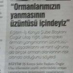 BİRÇOK ORMAN ALANI RİSK ALTINDA